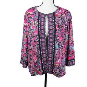 Joan Rivers Perfectly Paisley Knit Jacket - 119